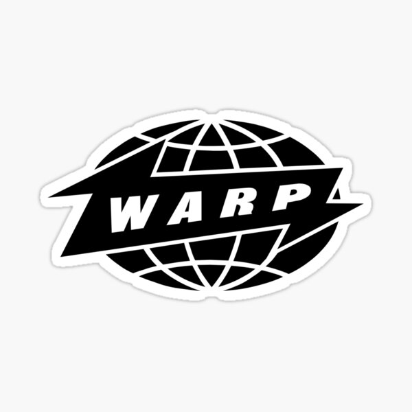 [HIGH QUALITY] Warp Records (black version) Sticker