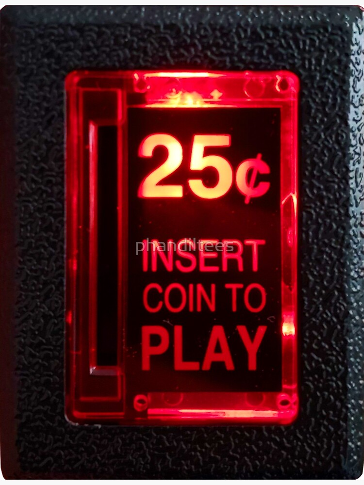 Arcade Coin Slot by phandiltees