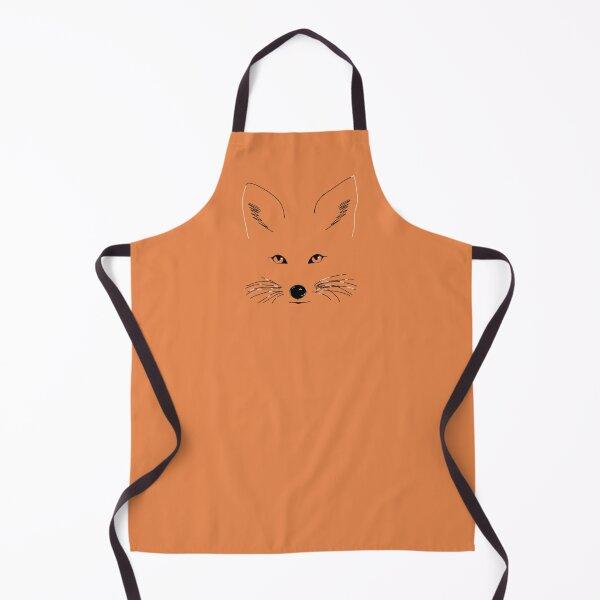 Fox Line Drawing  Apron