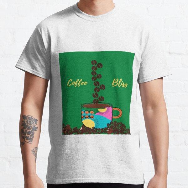 TAZA DE CAFÉ EN GRANOS BLISS (fondo verde) Camiseta clásica