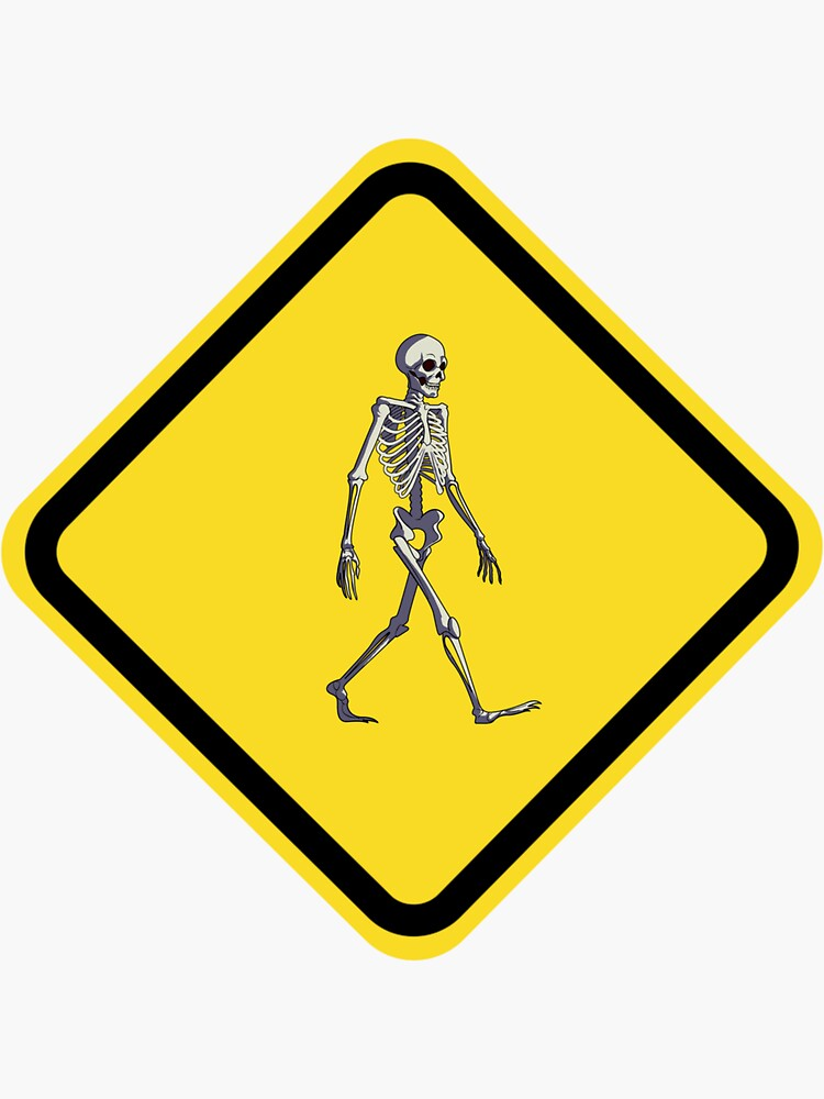 Funny skeleton road sign by ds-4