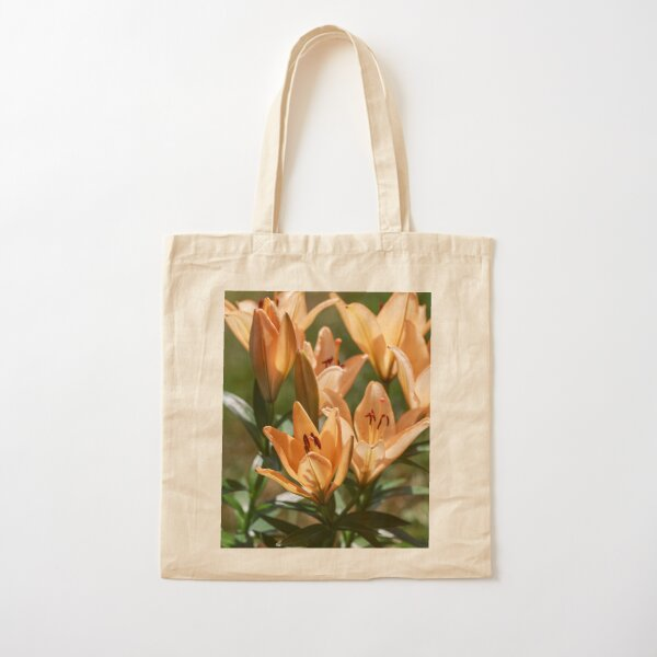 Orange Lillies in bloom Cotton Tote Bag