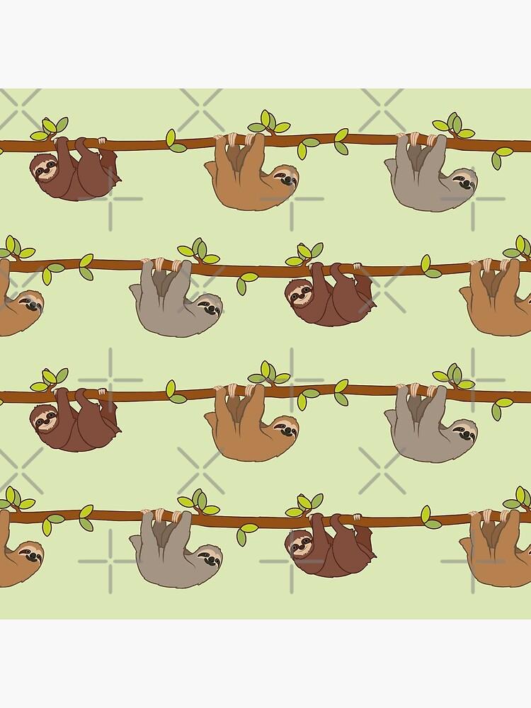 Sloths emoji pattern by Eenig
