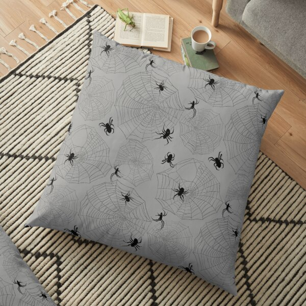 Spiders and Webs Floor Pillow