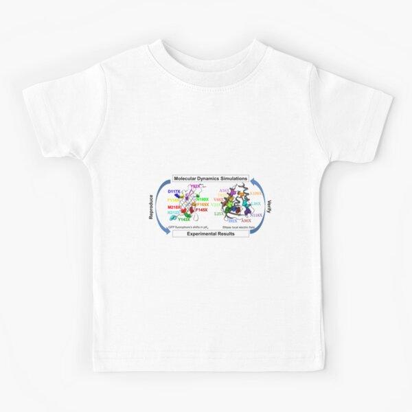 Molecular Dynamics Simulation Kids T-Shirt