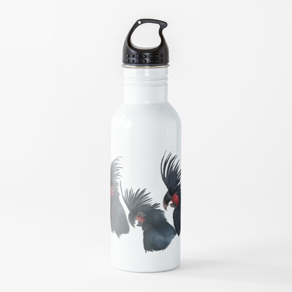 Young palm cockatoo trio Water Bottle