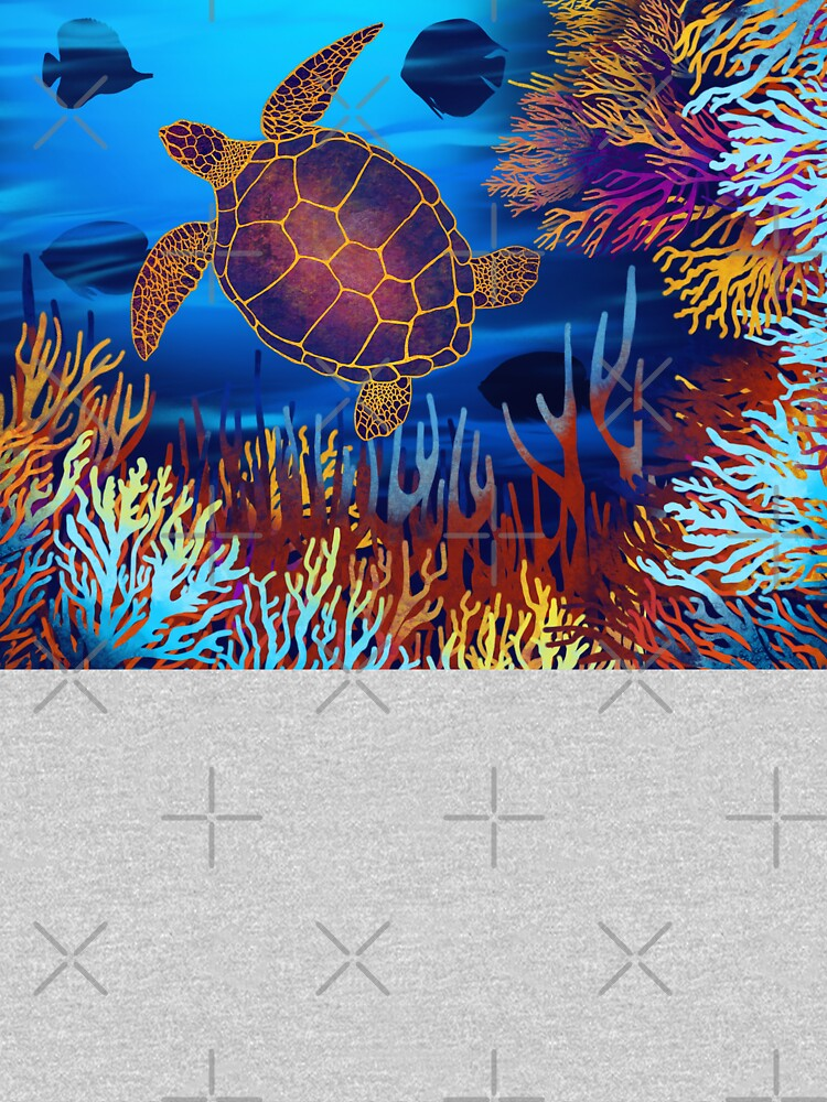 Sea Turtle On A Coral Reef by awanderingsoul