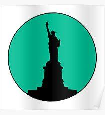 Statue of Liberty Minimalist Design Poster