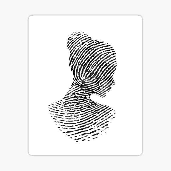 Fingerprint Portrait Sticker