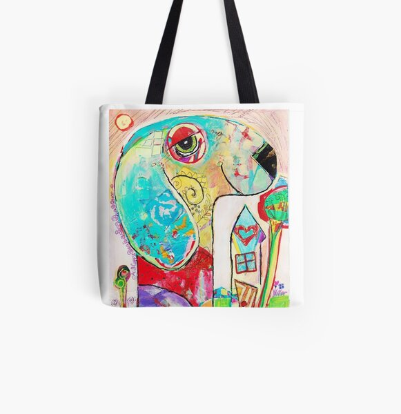 Happy Dog is a Dog with a Home All Over Print Tote Bag