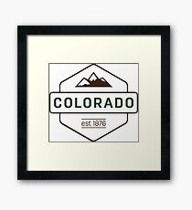 Colorado Mountain Badge Framed Print