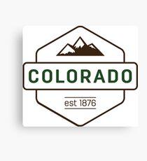 Colorado Mountain Badge Canvas Print