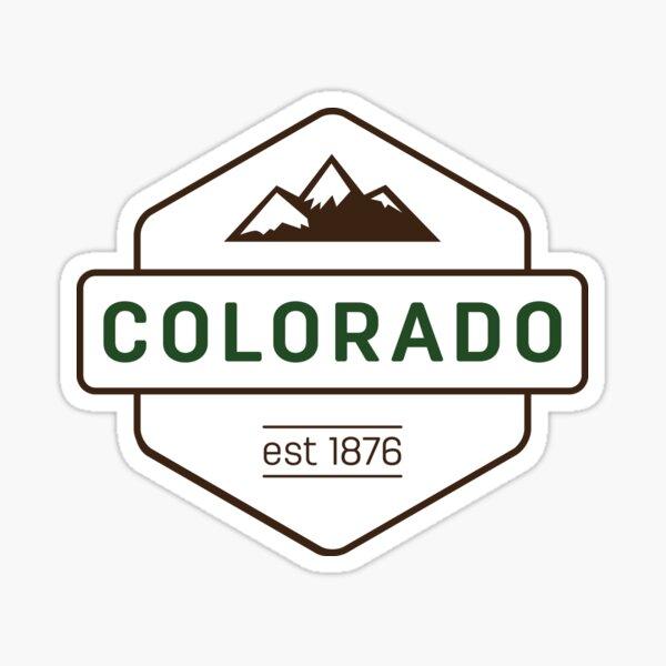 Colorado Mountain Badge Sticker