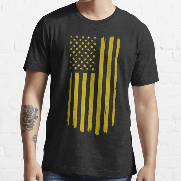 Distressed US Flag Gold Essential T-Shirt