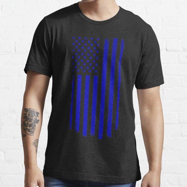 Distressed US Flag Blue Essential T-Shirt