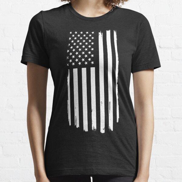 Distressed US Flag White Essential T-Shirt