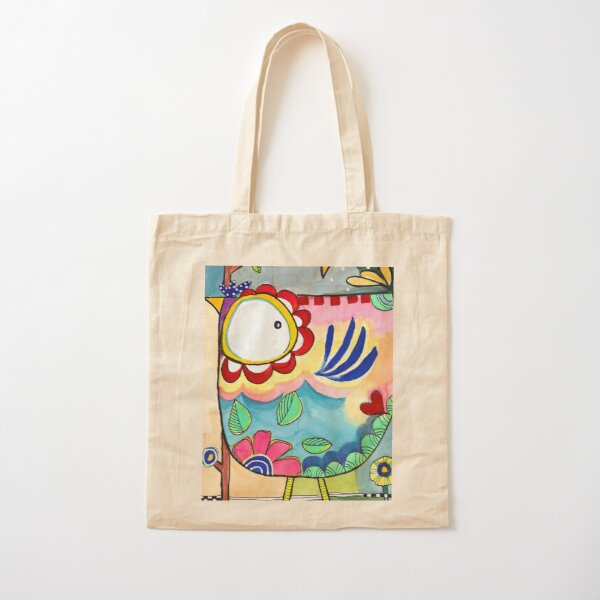Yard Bird Cotton Tote Bag