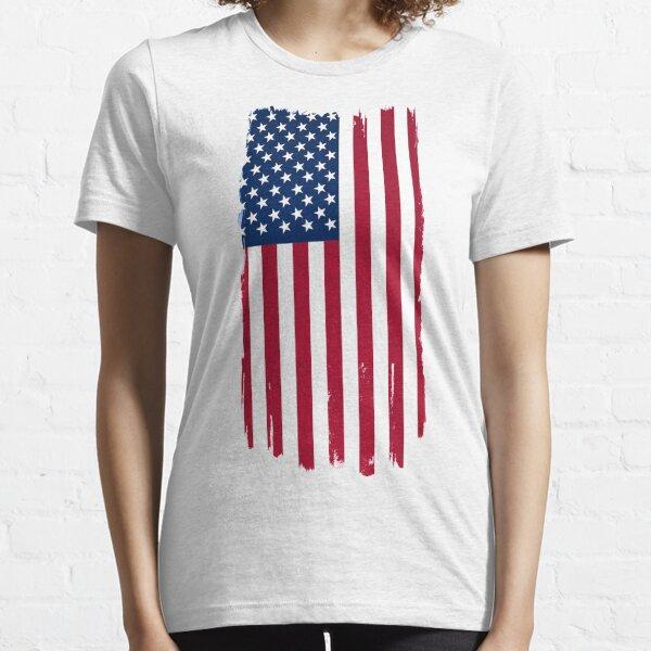 Distressed US Flag Essential T-Shirt