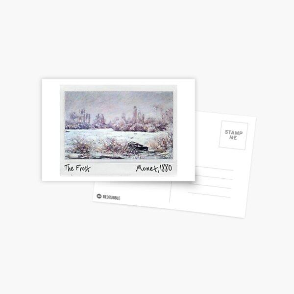 Claude Monet polaroid of  The Frost 1880 Postcard