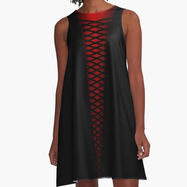 Laced Up A-Line Dress