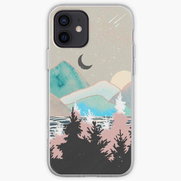 Pastel Mountain View Funda blanda para iPhone