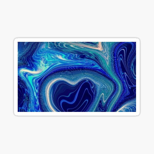 Sea Waves Abstract Sticker