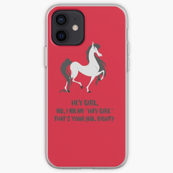 Fergus the Horse: Hey Girl iPhone Soft Case