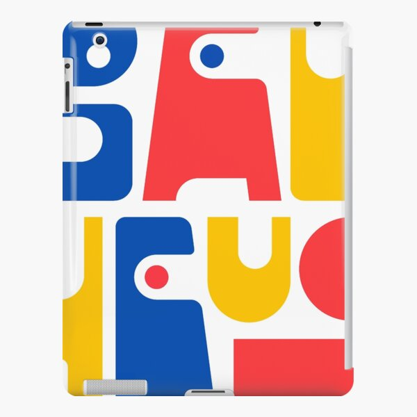 Bauhaus Letters Blue Red Yellow #6 iPad Snap Case