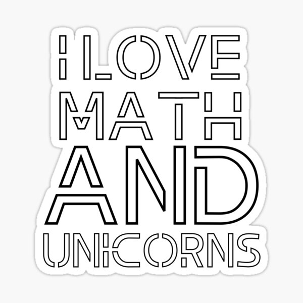 Vinyl Decal Sticker for Wall iPhone iPad Car Love You Hint Math Equation