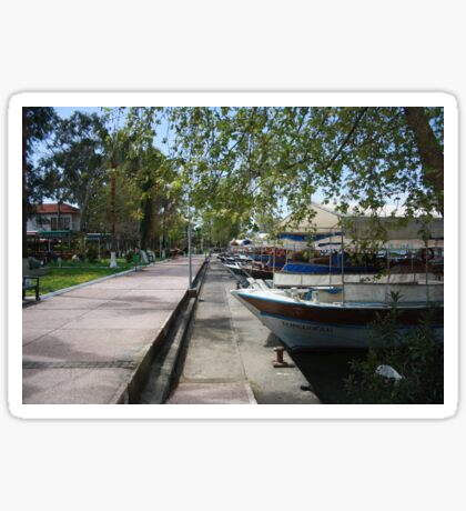Tour Boats Lining Dalyan River Sticker
