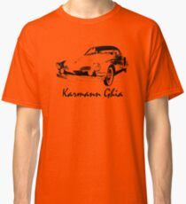 VW Karmann Ghia Stensil Print Classic T-Shirt