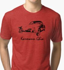 VW Karmann Ghia Stensil Print Tri-blend T-Shirt