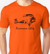 VW Karmann Ghia Stensil Print T-Shirt