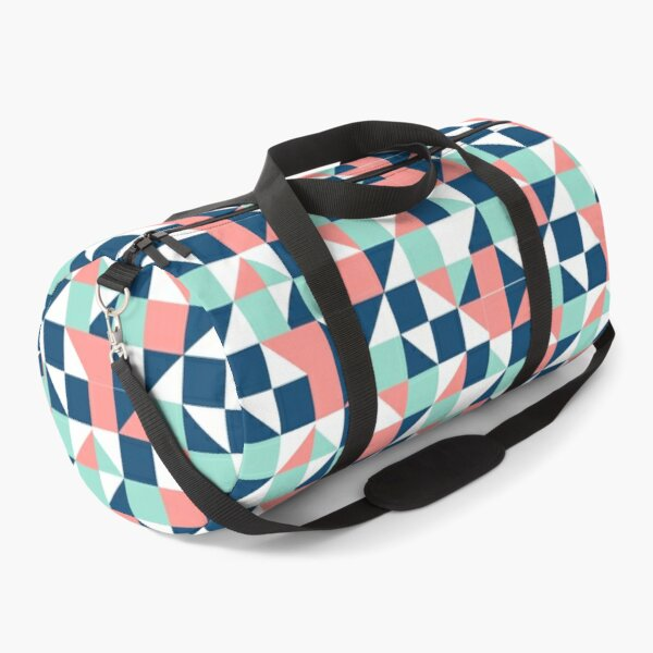 geometric abstract linear art colorful 2021 Duffle Bag