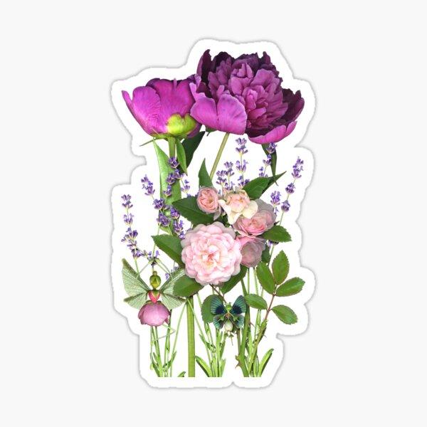Peony Fairy Garden Sticker