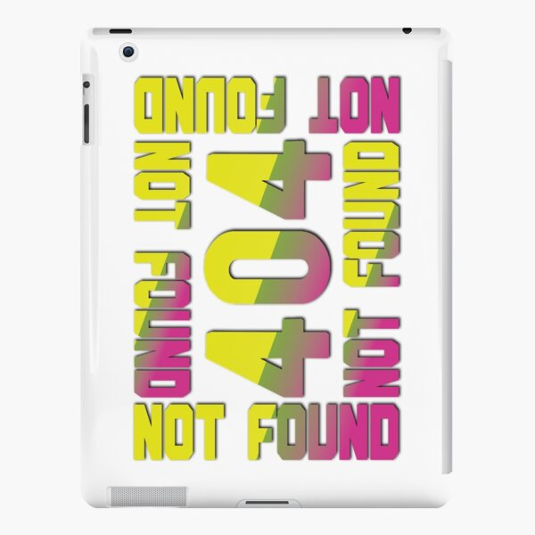 404 NOT FOUND iPad Snap Case