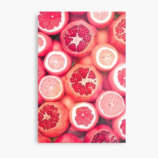 Colorful Citrun Fruits Metal Print