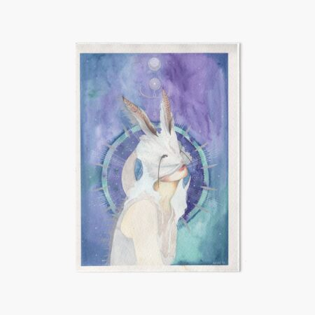 Moon Rabbit Art Board Print