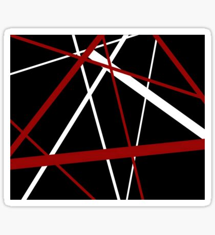Red and White Stripes on A Black Background Sticker