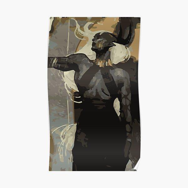 Female Qunari Tarot Card Poster