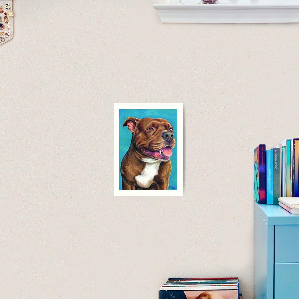 Tallulah the Staffordshire Bull Terrier Dog Art Print