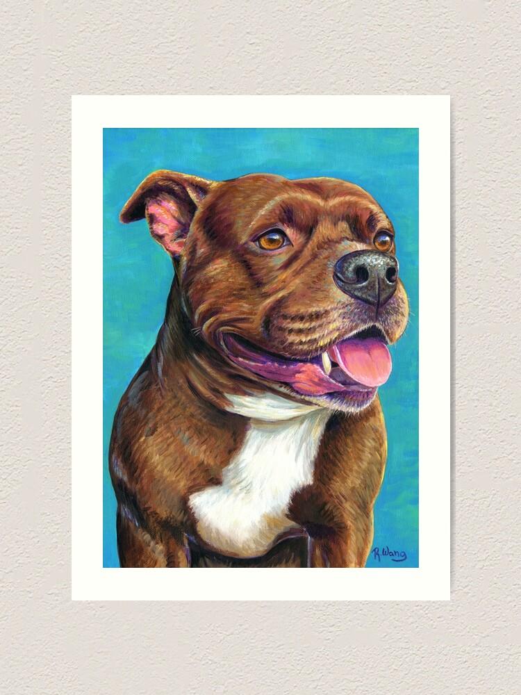 Alternate view of Tallulah the Staffordshire Bull Terrier Dog Art Print