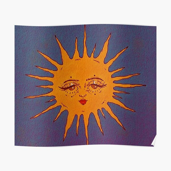 soleil indé souriant Poster