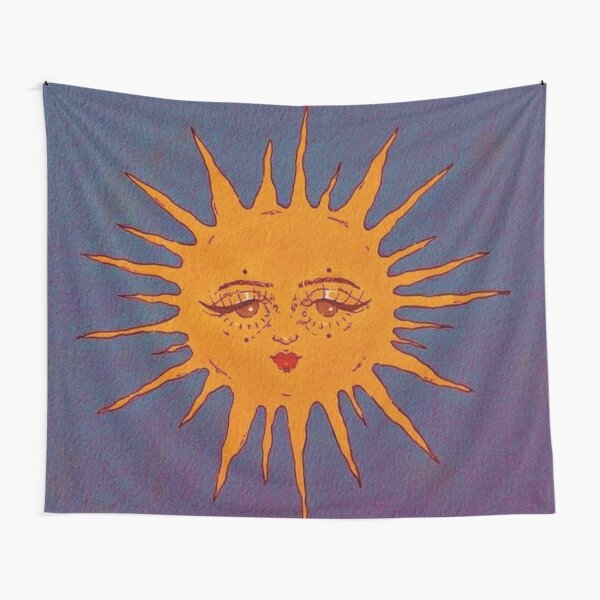 sun indie smiling  Tapestry