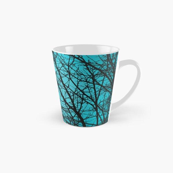 Silhouette de branche, bleu clair Mug long
