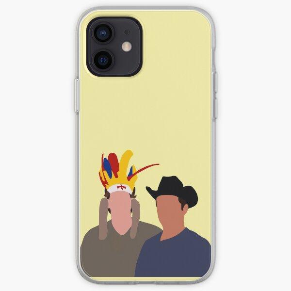 Ross Geller et Joey Tribbiani émission de télévision des années 90 Coque souple iPhone
