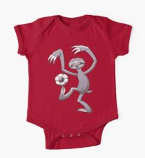 Cool Sloth Playing with a Soccer Ball One Piece - Short Sleeve