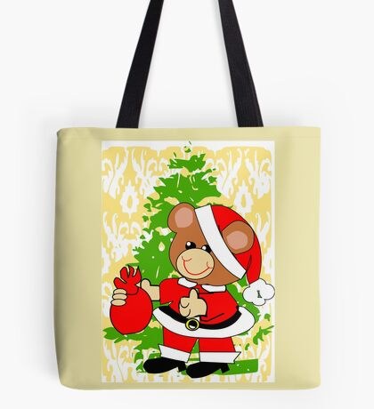 Teddy in Santa's Clothes (7240 Views) Tote Bag