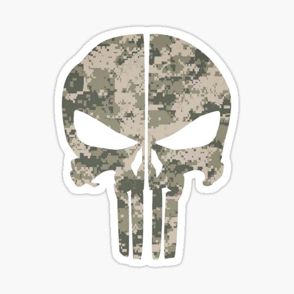 Camouflage skull  Sticker