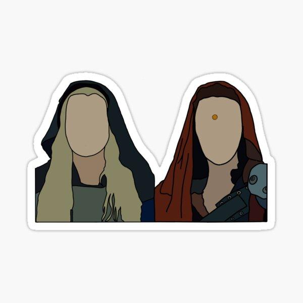 clarke and lexa in season 2 of 100 Sticker